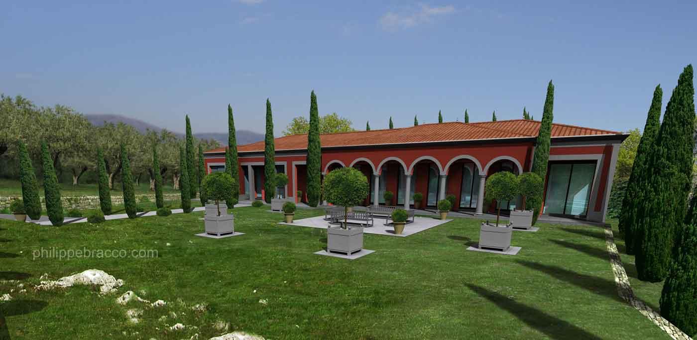 cabinet d 39 architecte cannes opio villa gan. Black Bedroom Furniture Sets. Home Design Ideas