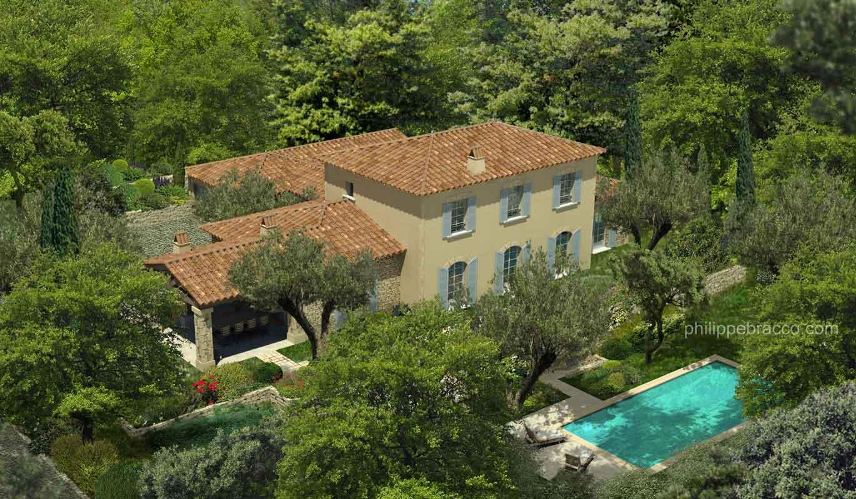 cabinet d 39 architecte cannes saint cezaire villa del. Black Bedroom Furniture Sets. Home Design Ideas