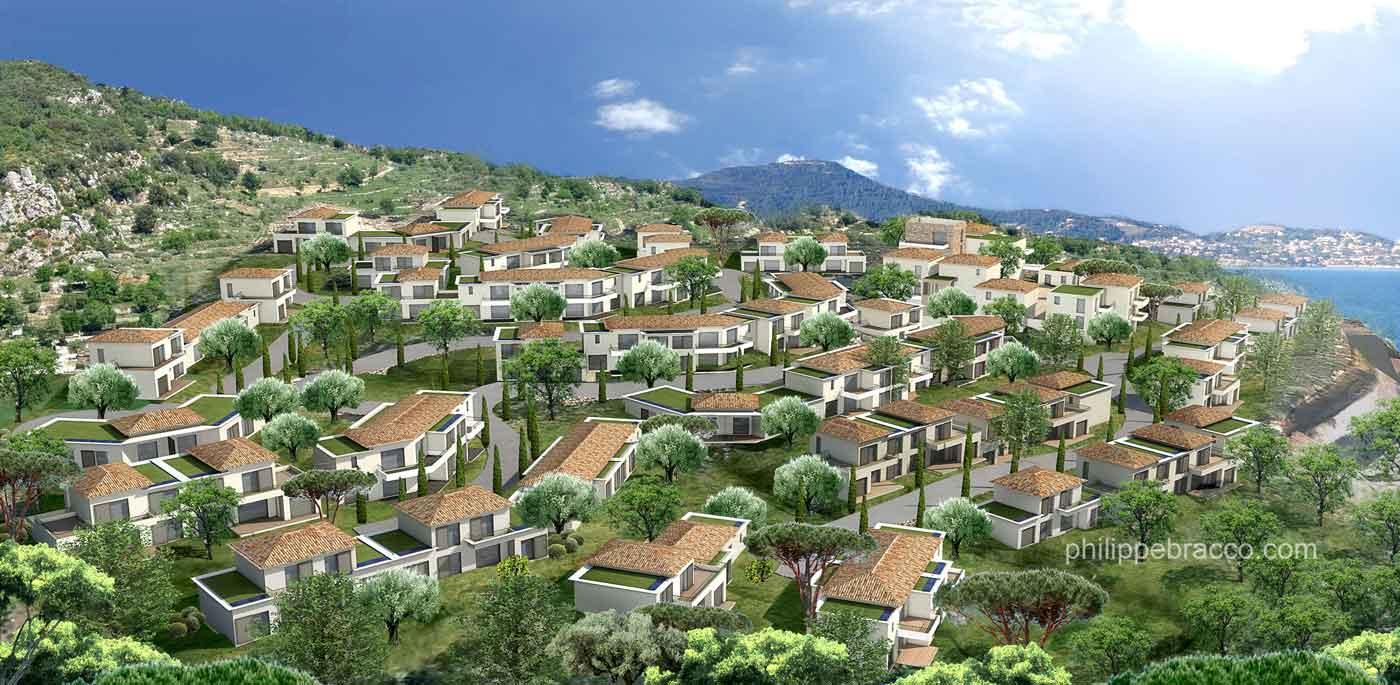 cabinet d 39 architecte cannes sainte maxime villas 105 logements. Black Bedroom Furniture Sets. Home Design Ideas