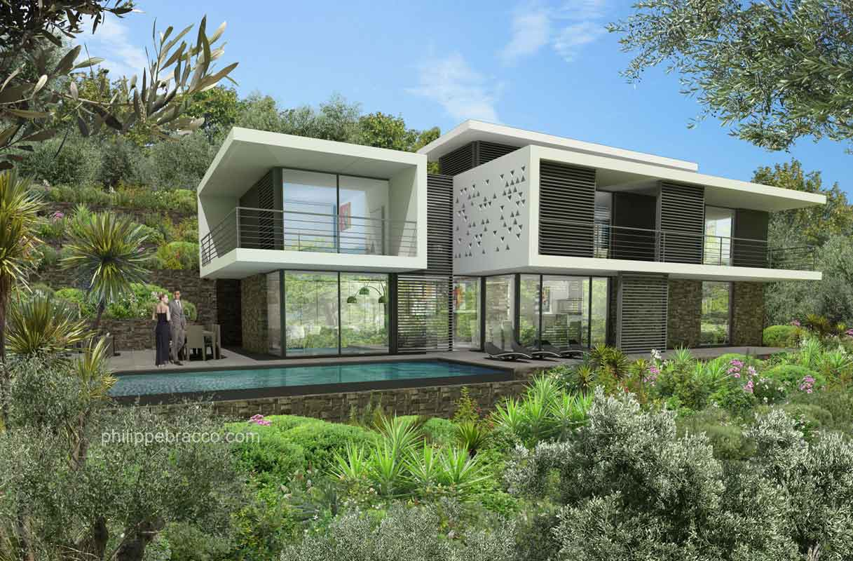 cabinet d 39 architecte cannes vallauris villa ro zi. Black Bedroom Furniture Sets. Home Design Ideas